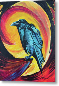 Raven in Wait - Metal Print