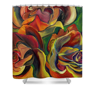 Red Roses - Shower Curtain