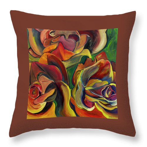 Red Roses - Throw Pillow
