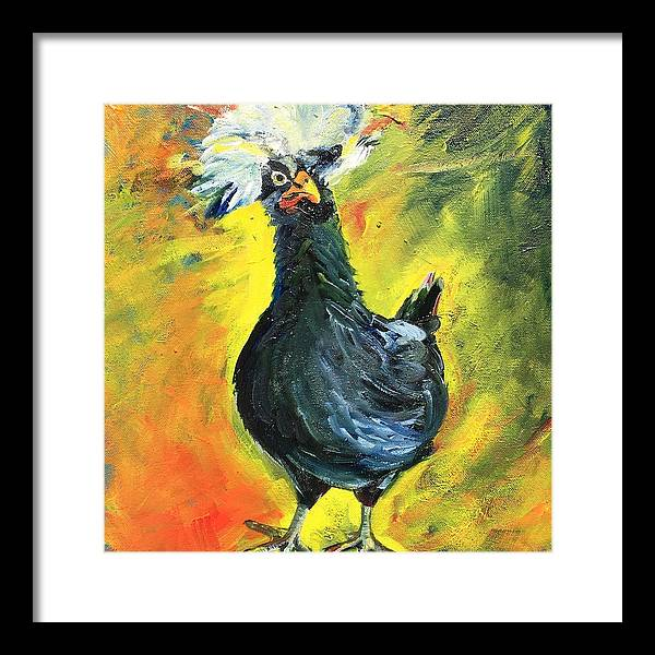 Rockstar Chicken - Framed Print