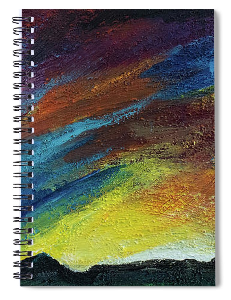 Ross Peak at Sunset - Spiral Notebook
