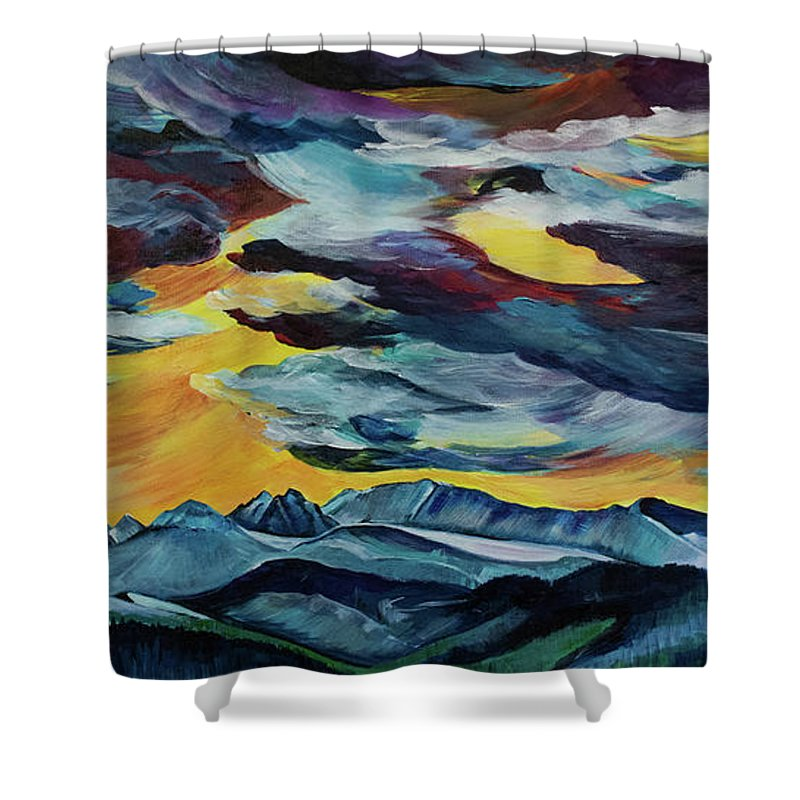 Spanish Peaks - Shower Curtain
