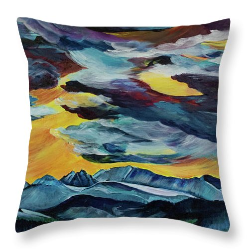 Spanish Peaks - Throw Pillow