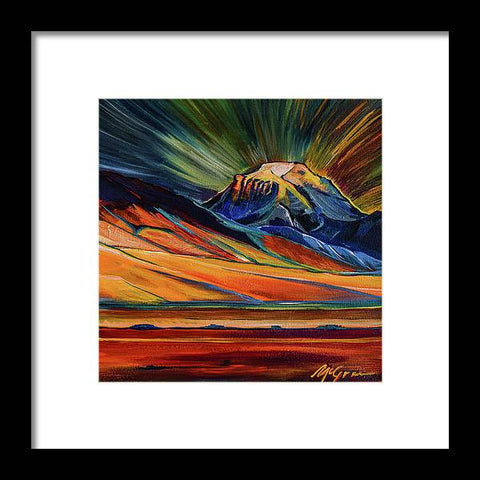 Sphinx Mountain - Framed Print