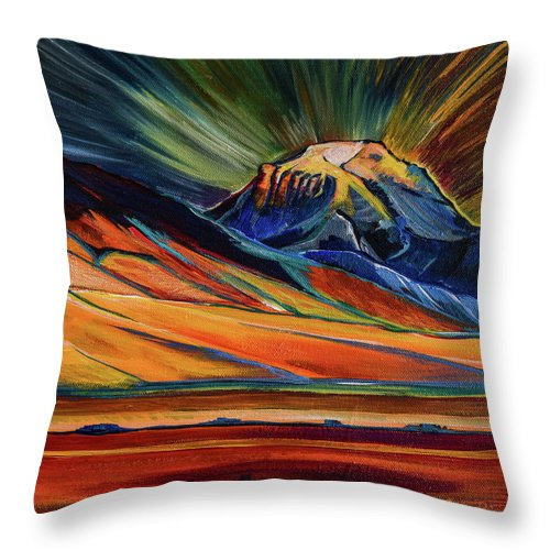 Sphinx Mountain - Throw Pillow