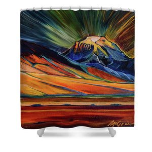 Sphinx Mountain - Shower Curtain