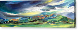 Sun Dancing on the Bridgers - Canvas Print
