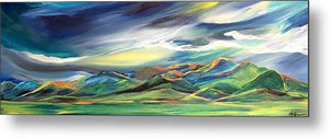 Sun Dancing on the Bridgers - Metal Print