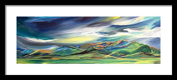 Sun Dancing on the Bridgers - Framed Print