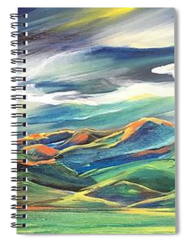 Sun Dancing on the Bridgers - Spiral Notebook