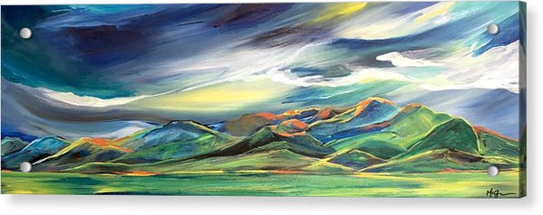 Sun Dancing on the Bridgers - Acrylic Print