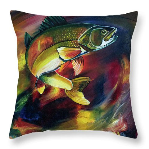 Walleye - Throw Pillow