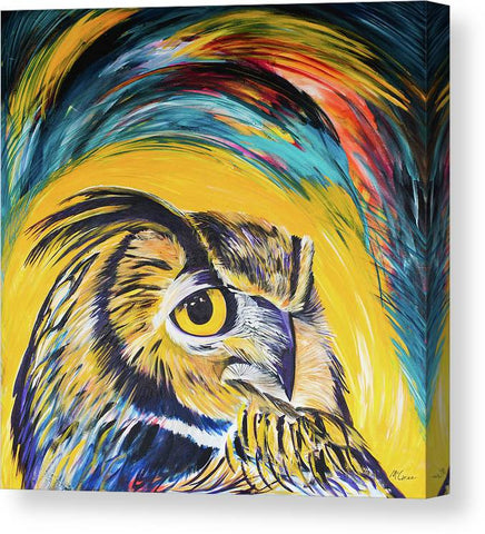 Watchful Owl - Canvas Print