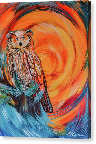 Wise Old Owl - Canvas Print
