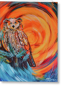 Wise Old Owl - Greeting Card