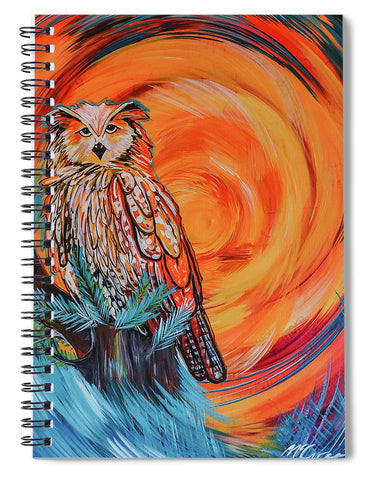 Wise Old Owl - Spiral Notebook