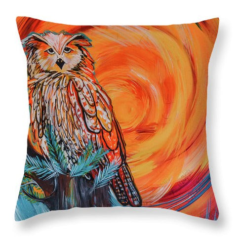 Wise Old Owl - Throw Pillow