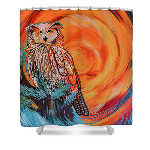 Wise Old Owl - Shower Curtain