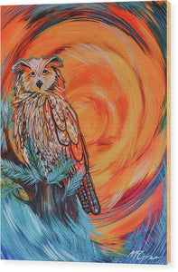 Wise Old Owl - Wood Print