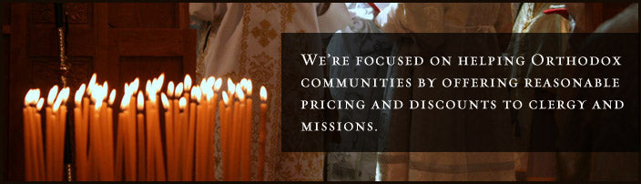 St. John of Sochava's Liturgical Church Supply is focused on helping Orthodox communities in Canada by offering reasonable pricing and discounts to clergy and mission parishes throughout the North American Continent.