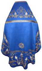 Blue Priest Embroidered Vestment