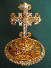 Gold Plated Mitre Cross