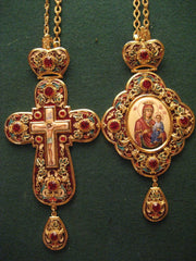 Panagia Set Enameled