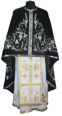 Black Priest Embroidered Vestment
