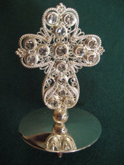 Silver Filigree Mitre Cross
