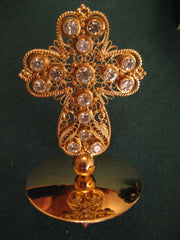 Gold Plated Miter Cross