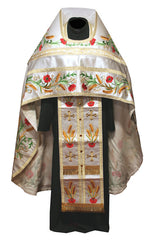 Embroidered White Priest Vestment
