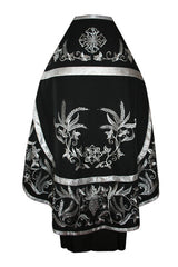 Black Embroidered Vestment