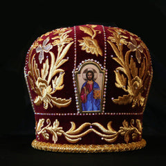 Burgundy Mitre (Priest)