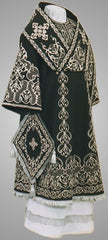 Black Embroidered Bishop Vestment