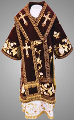 Red Embroidered Bishop Vestment