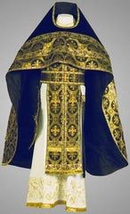 Blue Velvet Priest Vestment