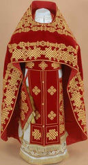 Red Embroidered Priest Vestment