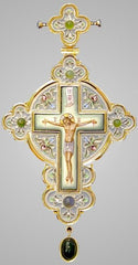 Enameled Jeweled Pectoral Cross