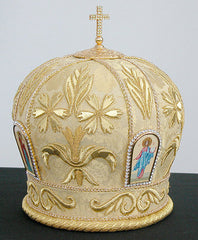 Hand Embroidered Mitre