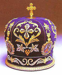 Purple Embroidered Mitre