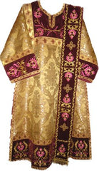 Brocade/ Embroidered Deacon Vestment