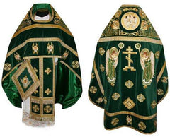Green Priest Embroidered Vestment
