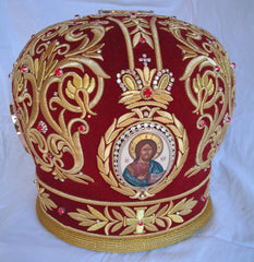 Hand Made Red Mitre