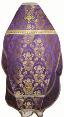 Purple Brocade Priest Vestment