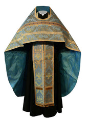 Blue Brocade Vestment