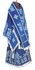 Blue Embroidered Bishop Vestment
