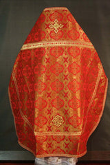 Red Brocade Priest Vestment