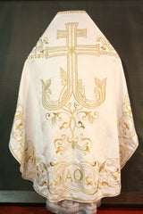 White Embroidered Priest Vestment