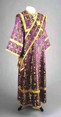 Purple Brocade Deacon Vestment