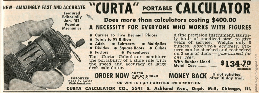 The Rocky Road to the Curta Pocket Calculator – Hand-Eye Supply